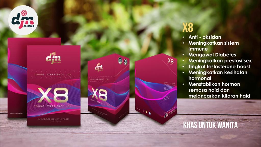 dijomaa X8 khas untuk wanita